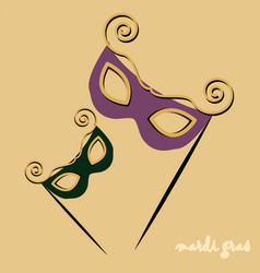 masks for mardi gras vector image