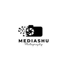 Media data tech studios shutter lens camera vector