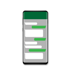 mobile chat messenger vector image