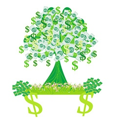 money growing on trees - abstract card vector image