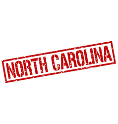 North carolina red square stamp vector