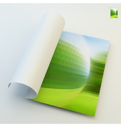 Notebook cover template vector