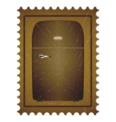 Old refrigerator vector image