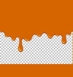 Orange dripping slime seamless element vector
