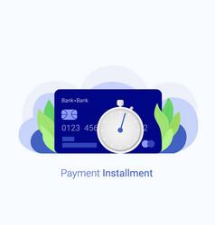 Payment installment concept vector