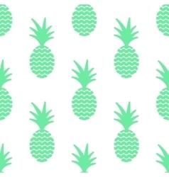 Pineapple simple vetor seamless background vector image