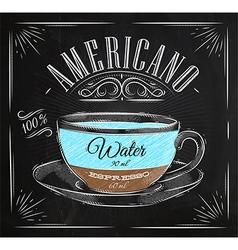 Poster americano chalk vector