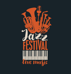 poster for a jazz festival of live music vector image
