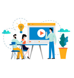 professional training education video tutorial vector image