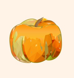 Pumpkin polygonal vector