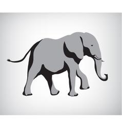 Rasterized copy of elephant vector