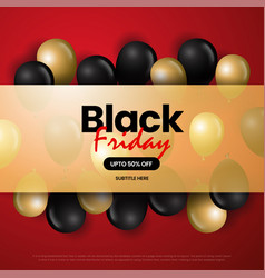 red black friday sale background vector image