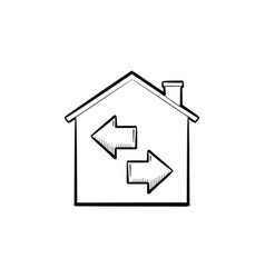 resale hand drawn outline doodle icon vector image