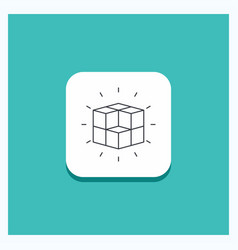 Round button for box labyrinth puzzle solution vector