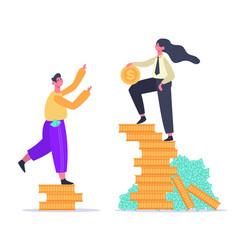 Salary inequality gender gap economic classes vector