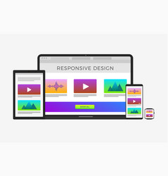 scalable and flexible responsive web design vector image