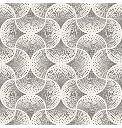 Seamless Black and White Arc Shape Stipple vector image