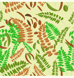 seamless pattern with green brown and ginger vector image