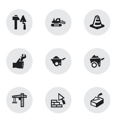 Set of 9 editable structure icons includes vector