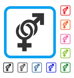 sexual symbols framed icon vector image