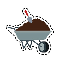 soil or dirt icon image vector image