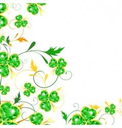 St Patrick's floral frame vector image