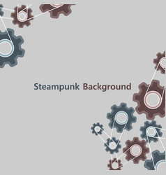 steampunk background vintage style graphic old vector image