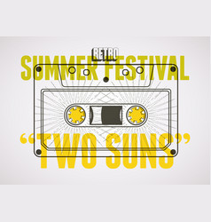 Summer festival retro typographical poster vector