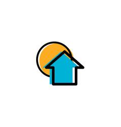 sun house logo vector image