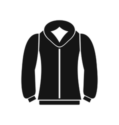 Sweatshirt icon in simple style vector