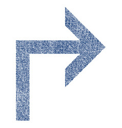 turn right fabric textured icon vector image