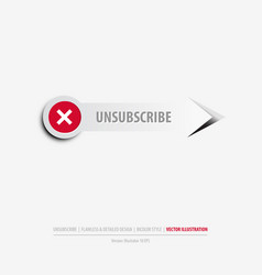 unsubscribe button vector image