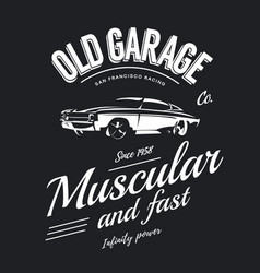 Vintage muscle car logo vector