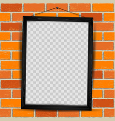 wooden frame red brick vector image vector image
