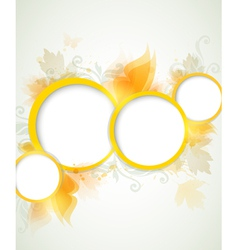 yellow abstract vector image