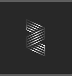 z letter 3d logo creative monogram creative vector image