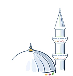 Colorful mosque drawing vector image vector image