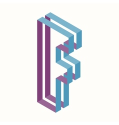 Letter F Logo Icon Design Template Element vector image