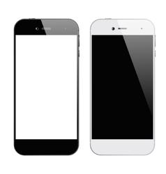 Smartphones black white vector image vector image
