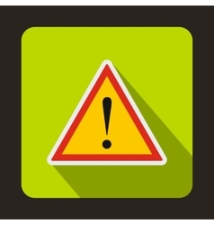 Warning attention sign with exclamation mark icon vector image vector image