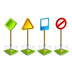 road sign vector image vector image