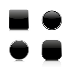 Set of glass buttons vector image vector image