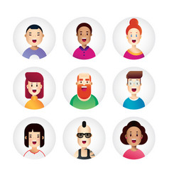 awesome people avatar collection in new flat vector image