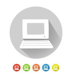 PC symbol vector image