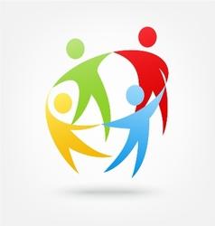 Team work icon vector image vector image