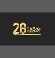28 years anniversary celebration with elegant vector