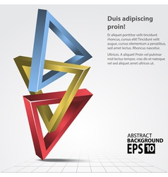 3d shapes triangles abstract vector