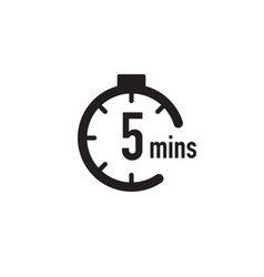5 minutes timer stopwatch or countdown icon time vector