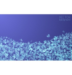 Blue butterflies background vector