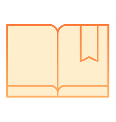 Bookmark with book flat icon read orange icons in vector